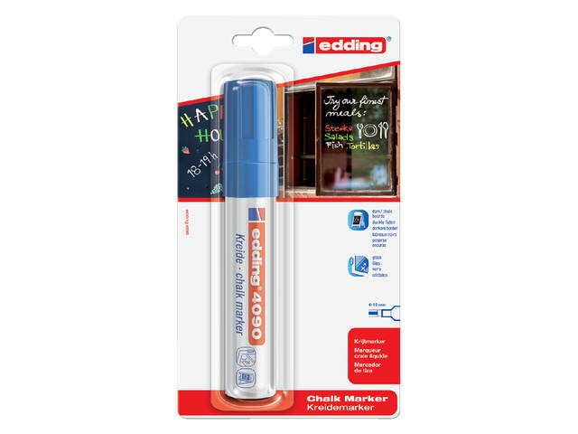 KRIJTSTIFT EDDING 4090 WINDOW BLOK 4-15MM BLAUW