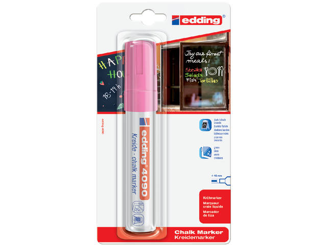 KRIJTSTIFT EDDING 4090 WINDOW BLOK 4-15MM ROZE