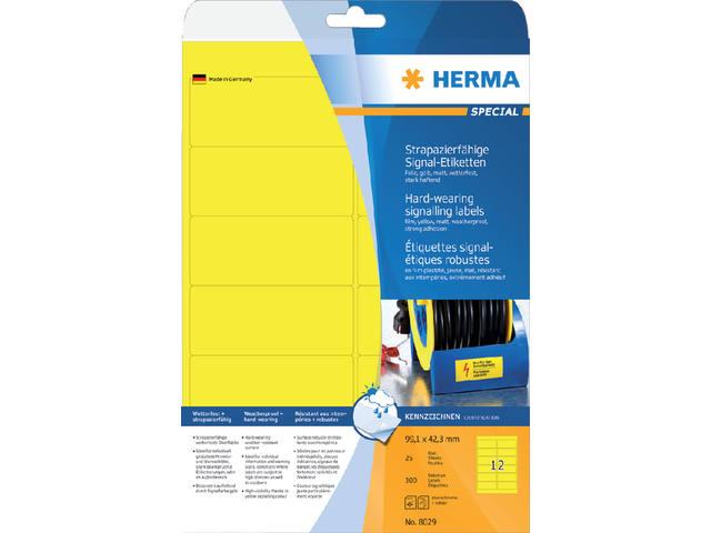 ETIKET HERMA 8029 99.1X42.3MM 300ST GEEL