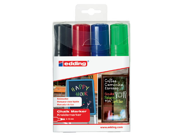 KRIJTSTIFT EDDING 4090 WINDOW BLOK 4-15MM ASS