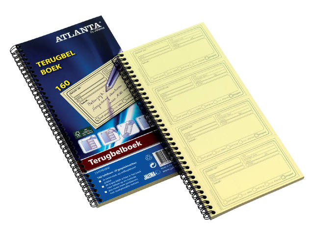 TERUGBELBOEK ATLANTA 74X128MM 160X2V