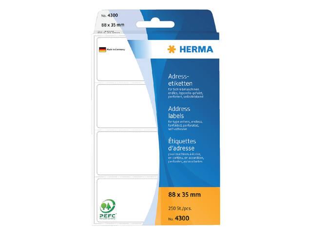 ETIKET HERMA ADRES 4300 88X35MM 250ST LEPORELLO