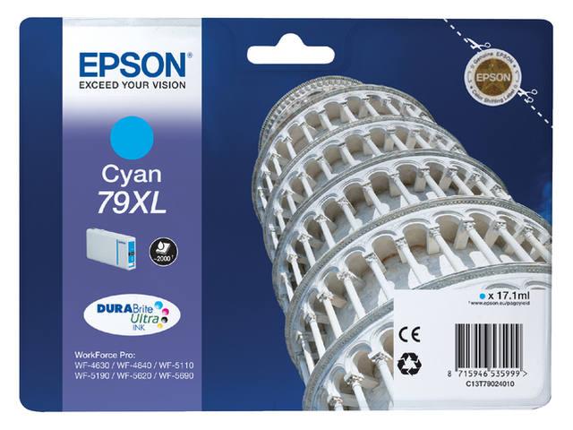 INKCARTRIDGE EPSON T790240 HC BLAUW