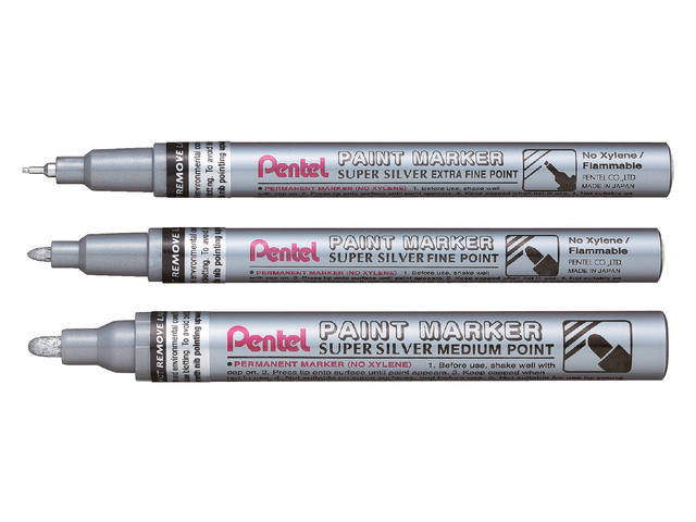 VILTSTIFT PENTEL MMP10 PAINT ROND 2.5MM ZILVER 2