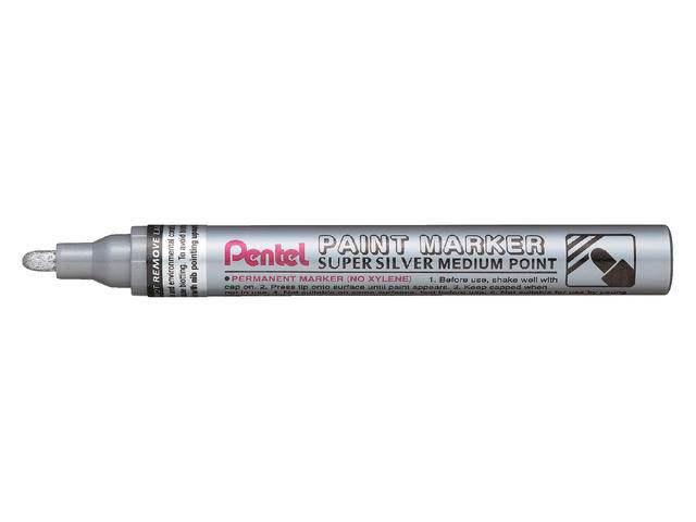 VILTSTIFT PENTEL MMP10 PAINT ROND 2.5MM ZILVER 1
