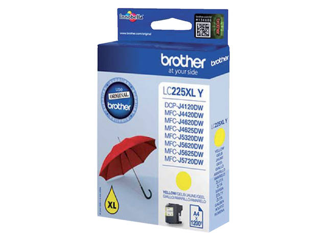 INKCARTRIDGE BROTHER LC-225XL GEEL 1