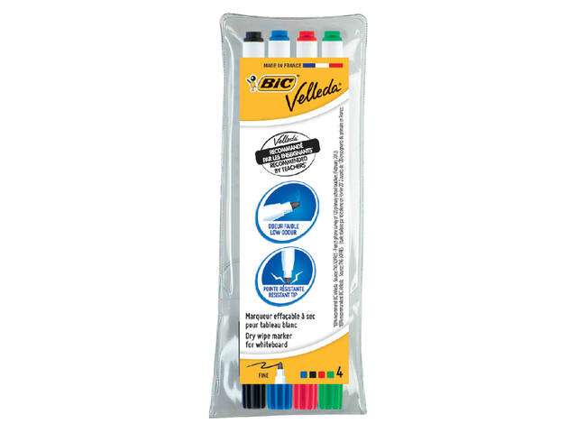 VILTSTIFT BIC 1721 WHITEBOARD ROND 1.5MM ASS