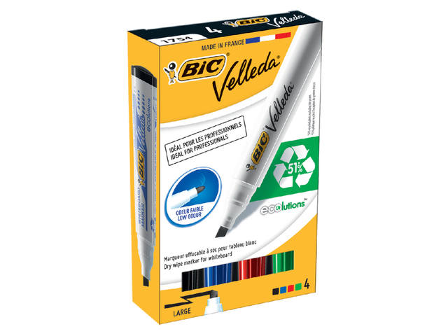 VILTSTIFT BIC 1754 WHITEBOARD SCHUIN 1.4MM ASS 2