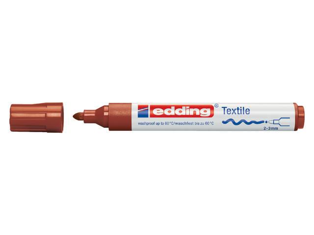 VILTSTIFT EDDING 4500 TEXTIEL ROND 2-3MM BRUIN