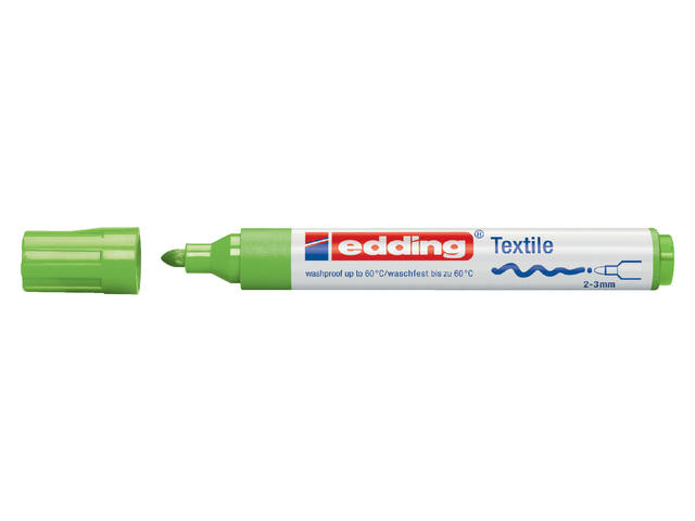 VILTSTIFT EDDING 4500 TEXTIEL ROND 2-3MM LGROEN