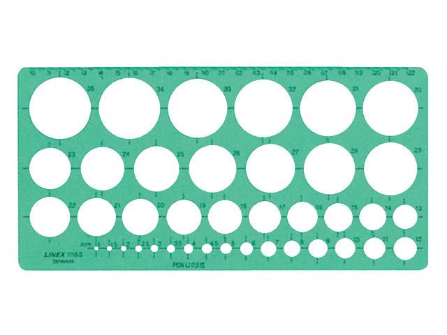SJABLOON LINEX 1116S CIRKELS MET INKTVOETJES
