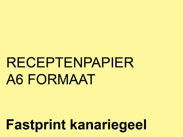 RECEPTPAPIER FASTPRINT A6 80GR KANARIEGEEL