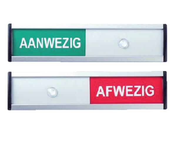 INFOBORD AANWEZIG/AFWEZIG 125X30MM