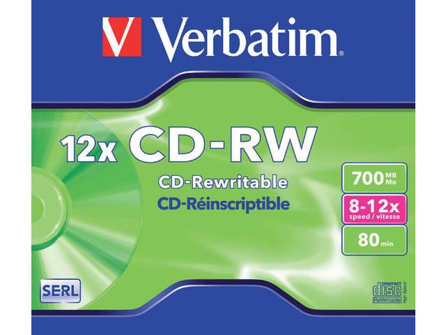 CD-RW VERBATIM 700MB 12X 10PK JC 1