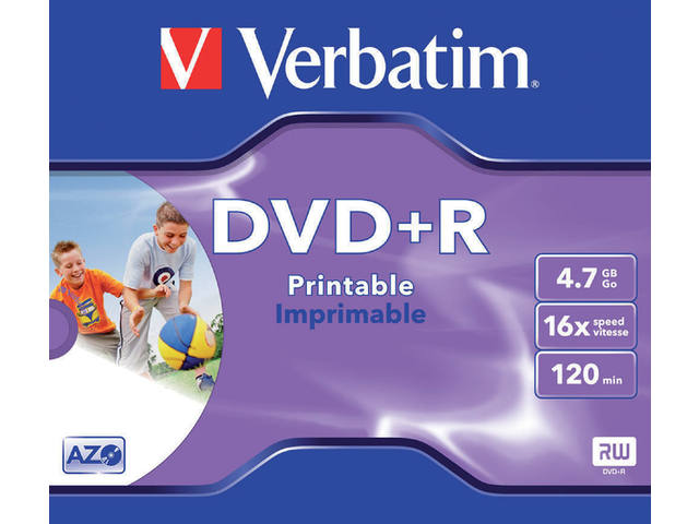 DVD+R VERBATIM 4.7GB 16X PRINTABLE JC