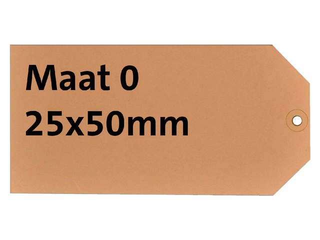 LABEL HF2 NR0 25X50MM KARTON 200GR CHAMOIS