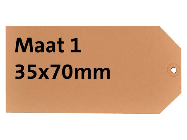 LABEL HF2 NR1 35X70MM KARTON 200GR CHAMOIS