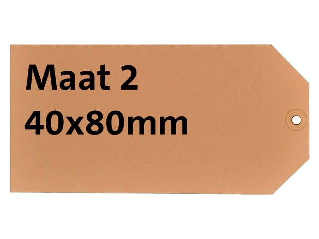 LABEL HF2 NR2 40X80MM KARTON 200GR CHAMOIS