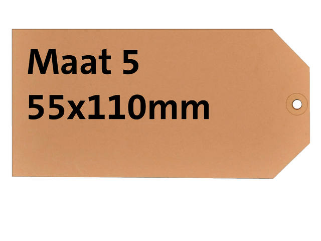 LABEL HF2 NR5 55X110MM KARTON 200GR CHAMOIS