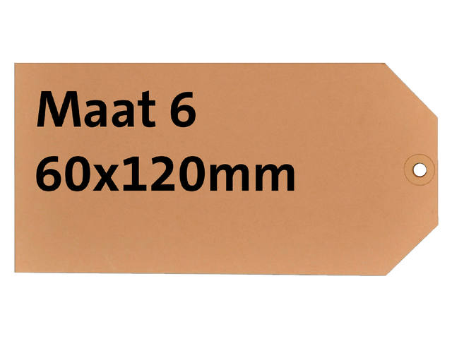 LABEL HF2 NR6 60X120MM KARTON 200GR CHAMOIS