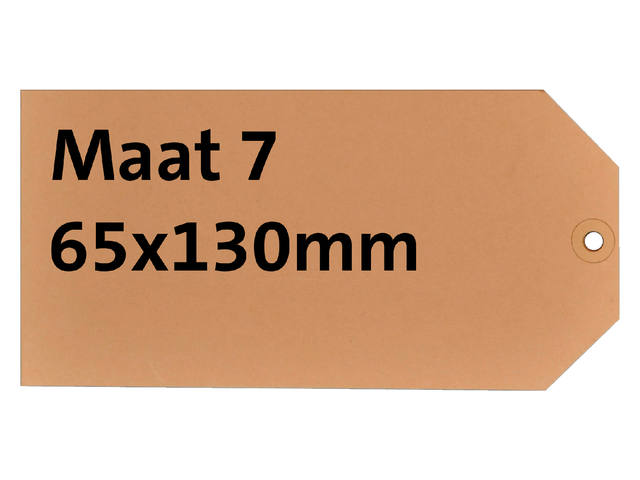LABEL HF2 NR7 65X130MM KARTON 200GR CHAMOIS+RING