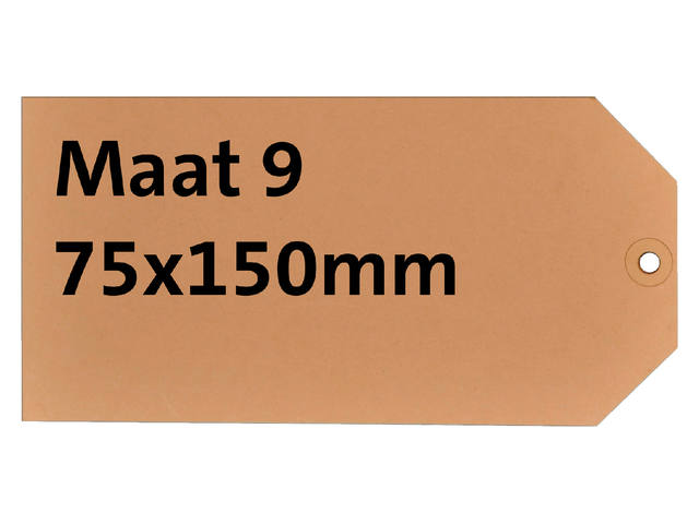 LABEL HF2 NR9 75X150MM KARTON 200GR CHAMOIS