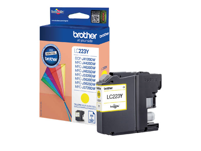 INKCARTRIDGE BROTHER LC-223 GEEL