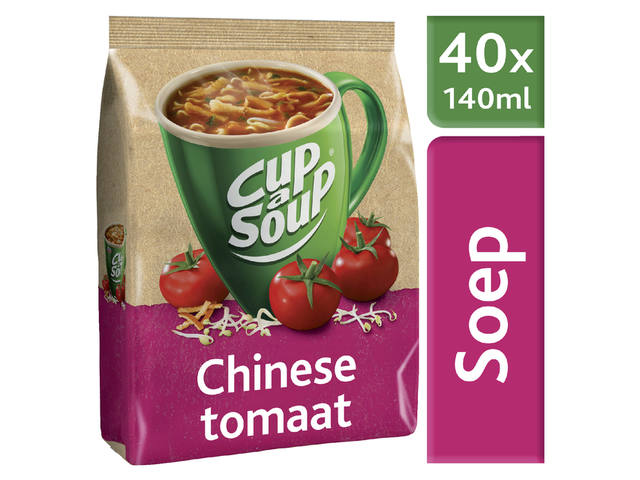 CUP A SOUP TBV DISPENSER CHINESE TOMAAT 40 PORTIES