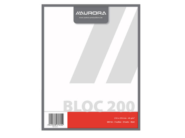 KLADBLOK 270X210MM 200V BLANCO