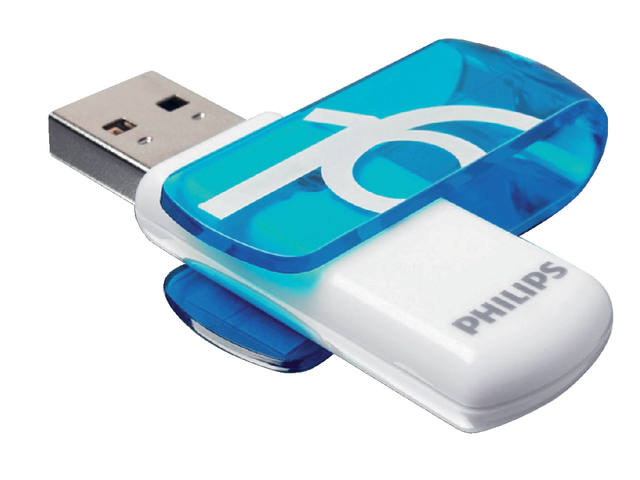 USB-STICK PHILIPS VIVID KEY TYPE 16GB 2.0 BLAUW