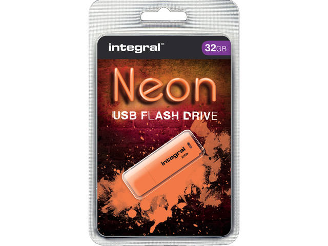 USB-STICK INTEGRAL FD 32GB NEON ORANJE