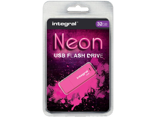 USB-STICK INTEGRAL FD 32GB NEON ROZE