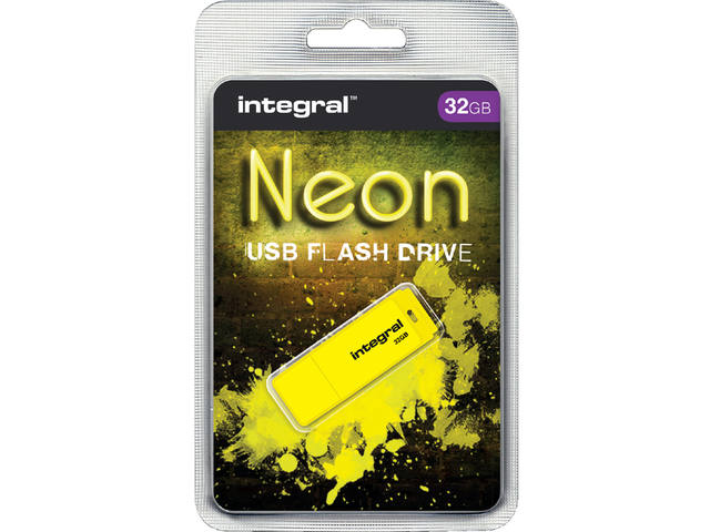 USB-STICK INTEGRAL FD 32GB NEON GEEL