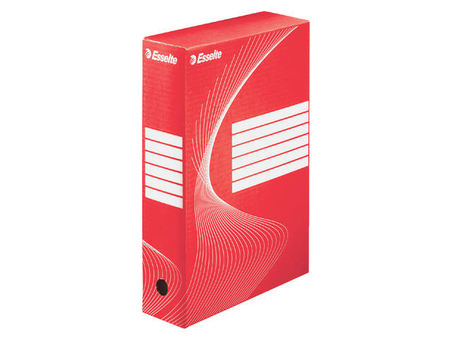 ARCHIEFDOOS ESSELTE BOXY 80MM ROOD 1