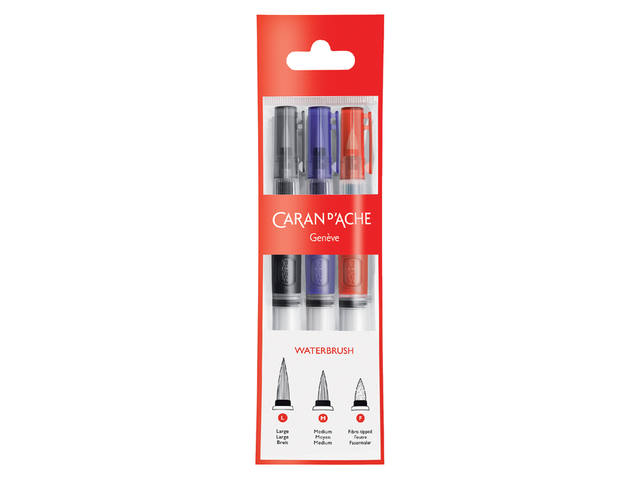 CARAN D'ACHE WATER BRUSH SET 3 MATEN