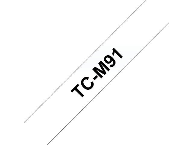 LABELTAPE BROTHER TC-M91 9MMX8M TR/ZWART 2