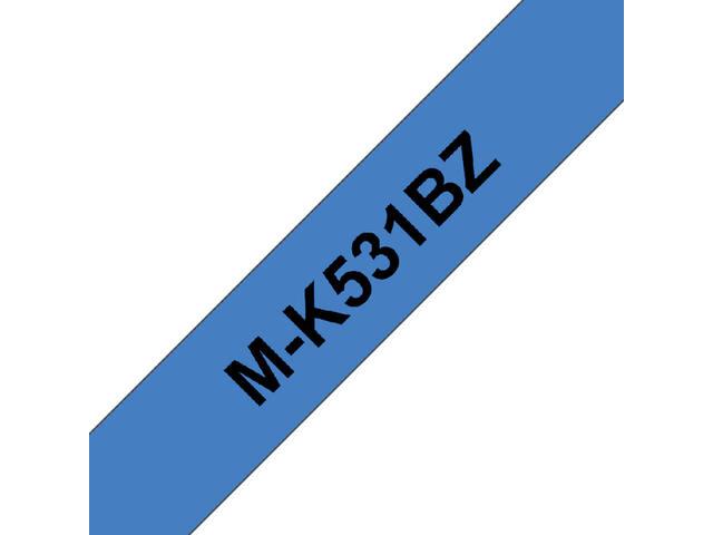 LABELTAPE BROTHER MK-531BZ 12MMX8M BLAUW/ZWART