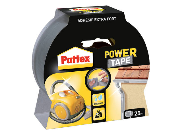 PLAKBAND PATTEX 50MMX25M POWER TAPE GRIJS 1