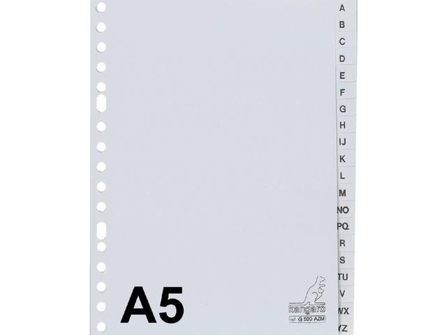 TABBLAD KANGARO G520AZM A5 17R A-Z PP 20DLG GRIJS