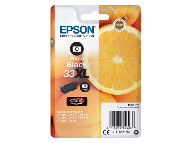 INKCARTRIDGE EPSON 33XL T3361 FOTO ZWART 1