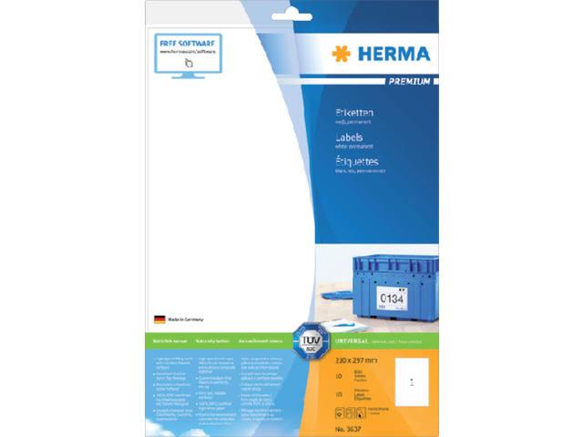 ETIKET HERMA 8637 210X297MM PREMIUM A4 10ST