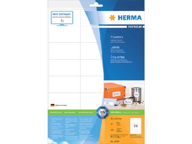 ETIKET HERMA 8644 70X37MM PREMIUM A4 240ST