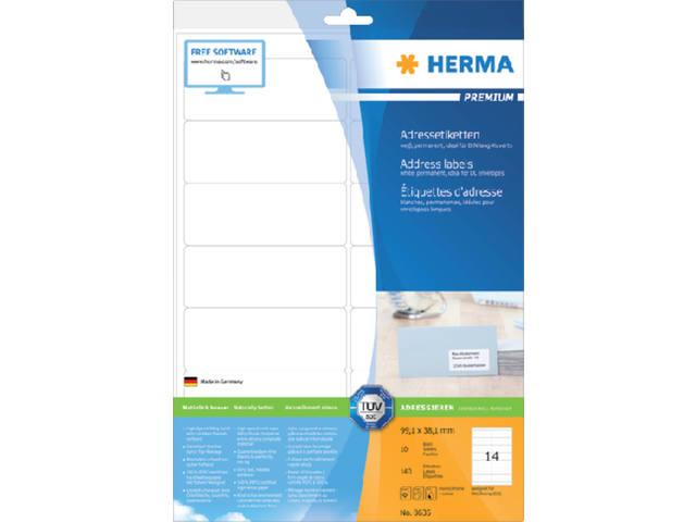 ETIKET HERMA 8635 99.1X38.1MM PREMIUM A4 140ST WIT 1