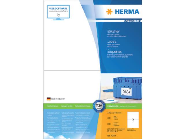 ETIKET HERMA 4282 210X148MM PREMIUM A4 200ST