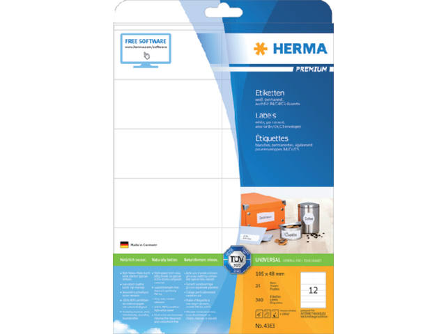 ETIKET HERMA 4363 105X48MM PREMIUM A4 300ST