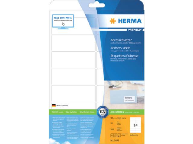 ETIKET HERMA 5076 99.1X38.1MM ADRES A4 350ST