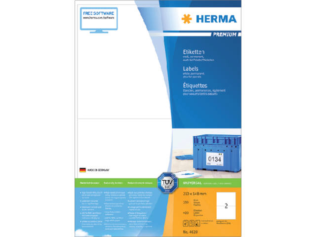 ETIKET HERMA 4628 210X148MM PREMIUM A4 400ST