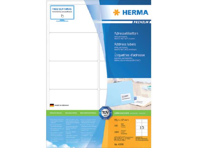 ETIKET HERMA 4268 99.1X57MM PREMIUM A4 1000ST