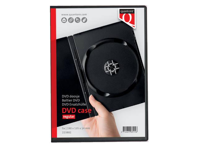 DVD DOOS QUANTORE LEEG 14MM ZWART