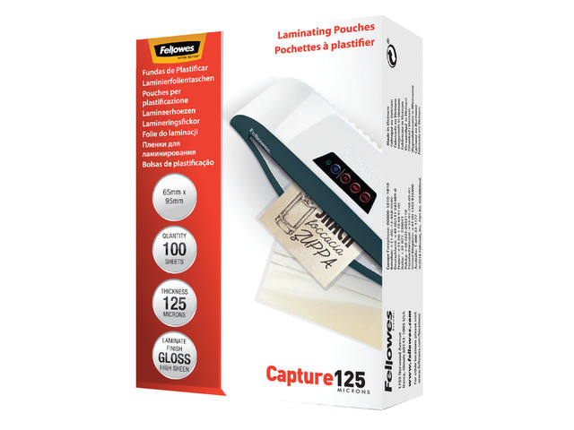 LAMINEERHOES FELLOWES 65X95MM 2X125MICRON